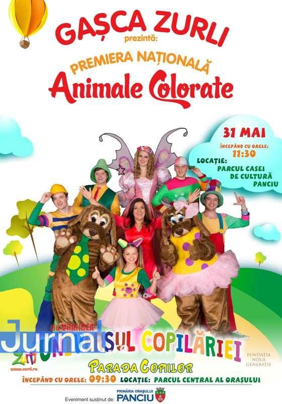 Afis Zurli - Gașca Zurli vine la Panciu cu ocazia Zilei Internaționale a Copilului