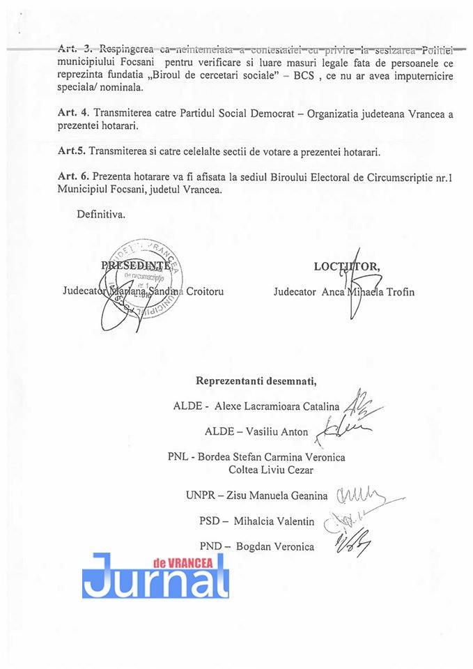 decizia BEM.2 1 - Scandal de proporţii în Vrancea ! Operatorii unei ONG, care făceau sondaj la urne, daţi afară din secţii