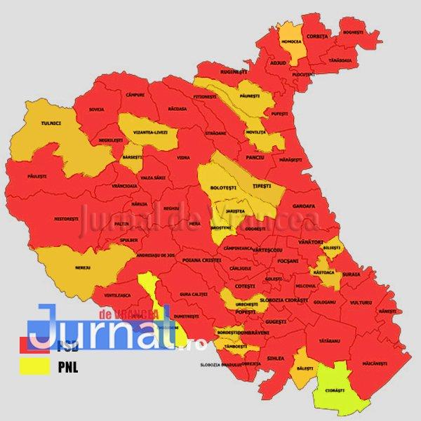 Vrancea Harta Caștigătorilor Alegerilor Locale Din 2016 Jurnal