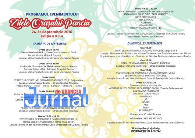 """Invitatie - Păncenii de pretutindeni sunt invitați la cea de-a XII-a ediție a """"Zilelor Orașului Panciu"""""""