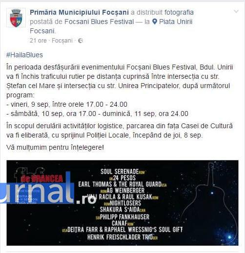 bleu festival - Festivalul de Blues închide Bulevardul Unirii
