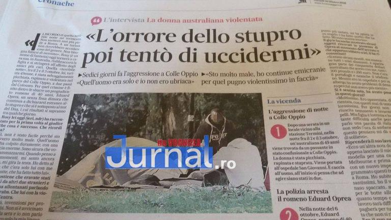 messaggero  - Focșănean arestat în Italia pentru viol și tâlhărie