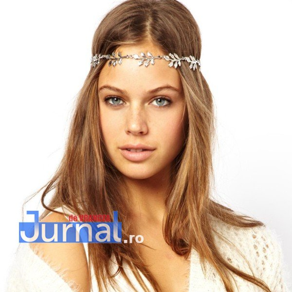 pcs boho chic fashion brand gold silver leaf headband punk elastic girls hair wear bridal - 5 accesorii must-have primăvara aceasta!