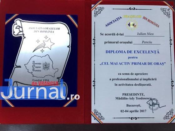 Premiu AOR 5 560x420 - FOTO: Primarul Iulian Nica, premiat de Asociația Orașelor din România