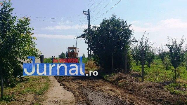 Lucrari str. Ciresului 7 - FOTO: Primăria Orașului Panciu a început modernizarea drumurilor de exploatație agricolă