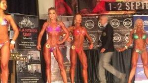lenuta 11 300x169 - GALERIE FOTO: O focșăneancă, senzațională în bikini, pe podium la Campionatul Național de Culturism și Fitness