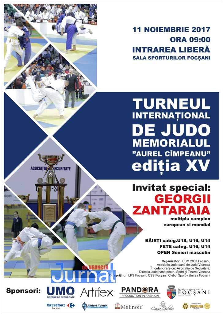 """afis memorialul aurel campeanu 2017 - UMO Serv participă la ediția XVa Turneului Internațional de Judo Memorialul """"AUREL CÎMPEANU"""""""