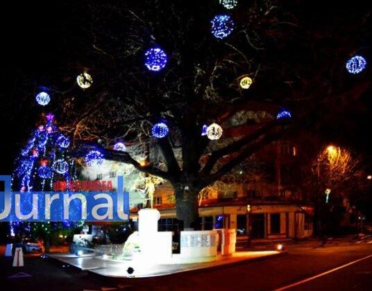 Iluminat sarbatori 3 536x420 - FOTO: Primăria Orașului Panciu a aprins luminile din bradul de Crăciun