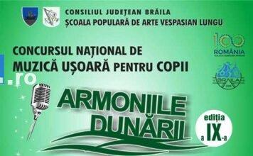 Afis Concurs Armoniile dunarii 2018 braila