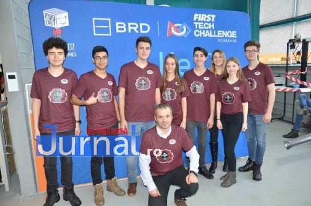 echipa de robotica colegiul unirea2 635x420 - FOTO: Noua echipă de robotică a Colegiului Unirea, loc fruntaș la un campionat de profil