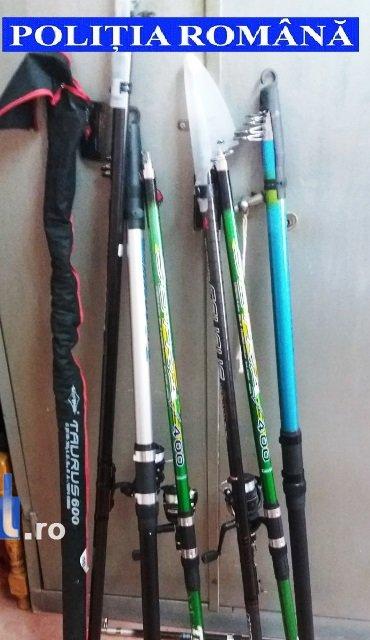 scule de pescuit - Articole de pescuit furate dintr-un magazin din Adjud