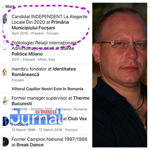 Willy brumareanu candidat1 - Surpriză majoră! De la platane vrea la Primărie! Cine candidează în 2020 la Primăria Focșani