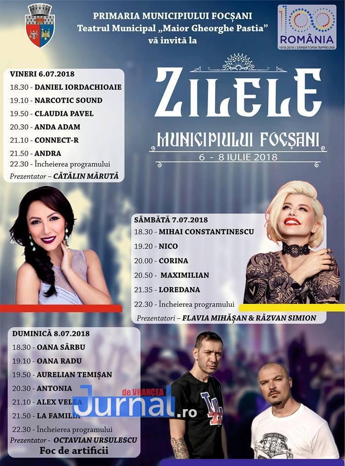 afis zilele orasului - Andra, concert incendiar în această seară!  Cine cântă la Zilele Focșaniului!