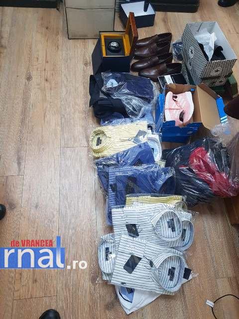 bunuri confiscate2 - FOTO: Nike şi Channel contrafăcute! Gălăţean prins cu mărfuri contrafăcute, la vânzare
