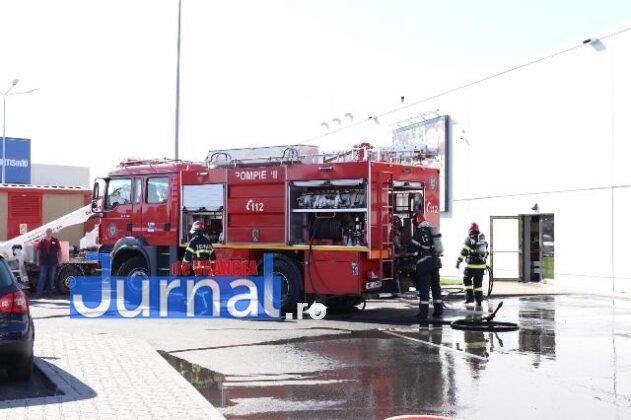 exercitiu isu vn kaufland2 631x420 - GALERIE FOTO: Amplu exercițiu al pompierilor la Kaufland