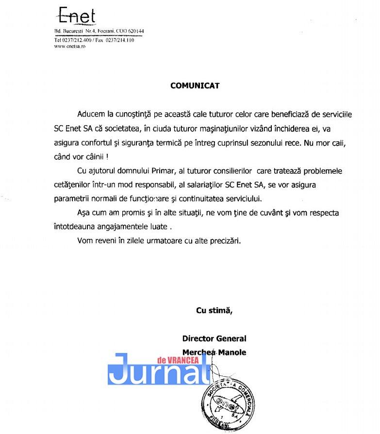 """comunicat enet - FOTO: Scandal în Consiliul Local. ENET, de la """"gaură neagră"""" la demisii"""