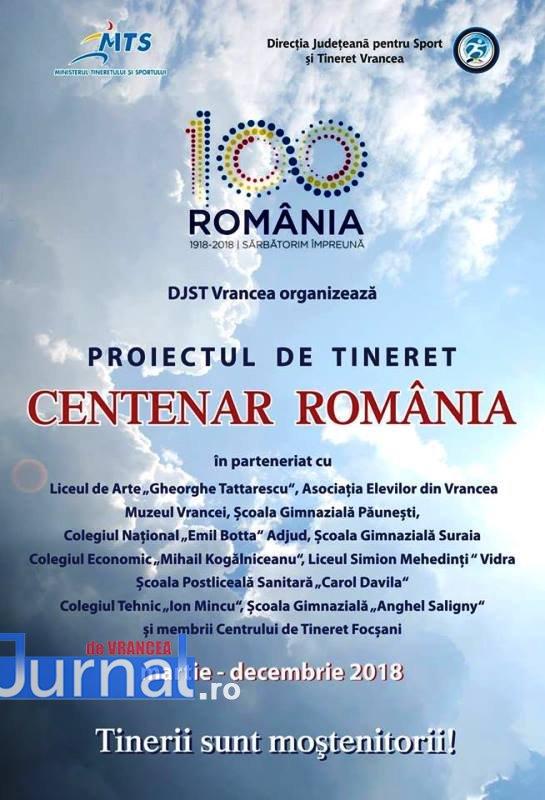 """djts vrancea centenar - Proiectul """"Centenar România"""" organizat de DJTS Vrancea a ajuns la final"""