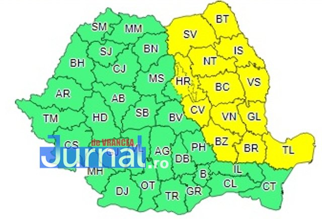 harta cod galben ploi - ULTIMĂ ORĂ: După ninsori vine poleiul
