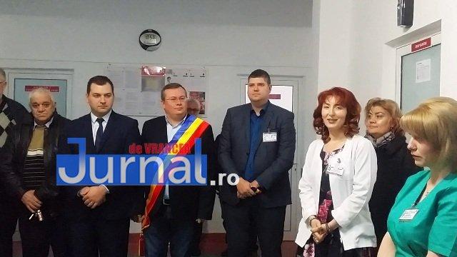 Inaugurare Compartiment Gastroenterologie 3 - FOTO: Primarul Iulian Nica și vicepreședintele Consiliului Județean Vrancea, Dănuț Cristian, au inaugurat Compartimentul Gastroenterologie al Spitalului Orășenesc Panciu