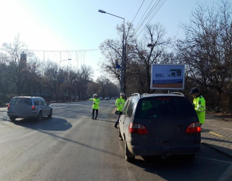 razie polita rutiera - Câte amenzi au dat polițiștii în cadrul acțiunii de luni, din Focșani