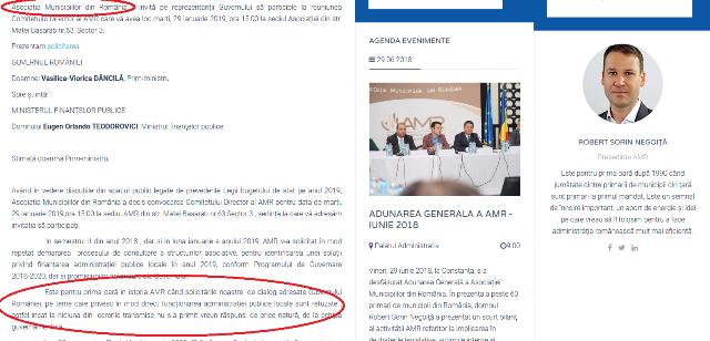 scrisoare amr - Ion Ștefan: Inconsecvența primarului Misăilă: cum se schimbă realitatea economică de la ședințele AMR la share-urile pentru Dragnea