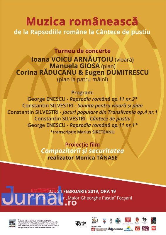 ateneu concert februarie 1 - Luna februarie vine la Ateneu cu lucrări celebre interpretate de artiști locali