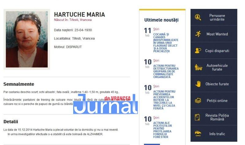 hartuche maria tifesti vrancea - FOTO: Zece vrânceni căutați de Poliția Română. Cinci dintre ei, condamnați definitiv