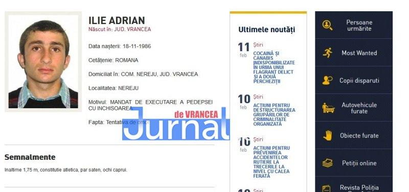 ilie adrian nereju vrancea - FOTO: Zece vrânceni căutați de Poliția Română. Cinci dintre ei, condamnați definitiv