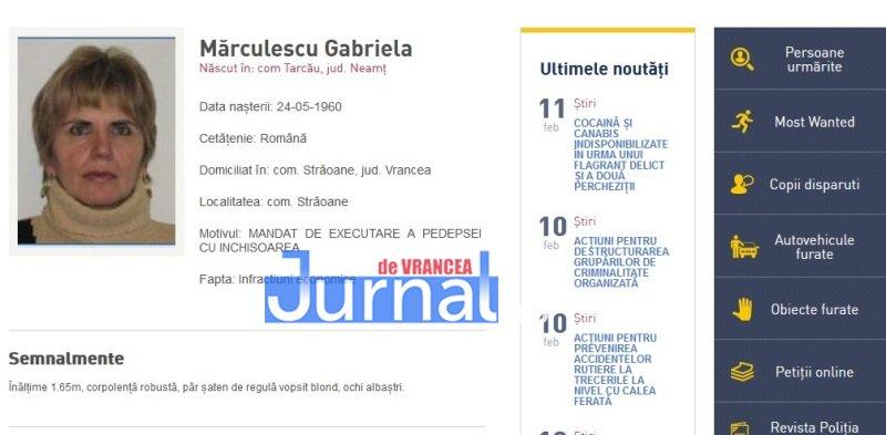 marculescu gabriela straoane vrancea - FOTO: Zece vrânceni căutați de Poliția Română. Cinci dintre ei, condamnați definitiv