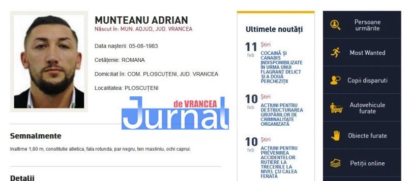 munteanu adrian ploscuteni vrancea - FOTO: Zece vrânceni căutați de Poliția Română. Cinci dintre ei, condamnați definitiv