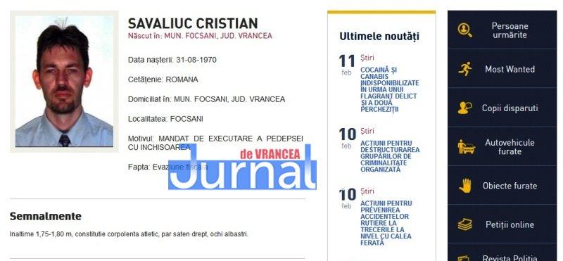 savaliuc cristian focsani vrancea - FOTO: Zece vrânceni căutați de Poliția Română. Cinci dintre ei, condamnați definitiv