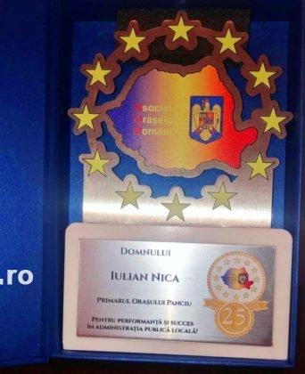 Panciu AOR1 342x420 - FOTO: Primarul Iulian Nica, premiat pentru performanță și succes în administrația locală