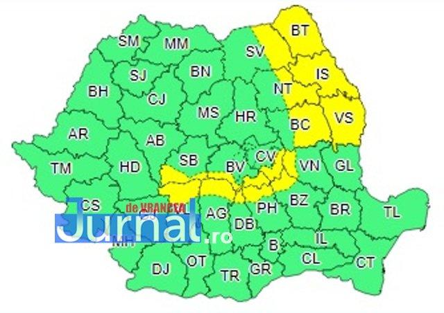 cod galbe vant - Cod galben de vânt în zona de munte a judeţului