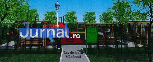 loc de joaca mandresti 2 - FOTO: Cum vor arăta noile locuri de joacă din centrul Focșaniului și din cartierul Mîndrești
