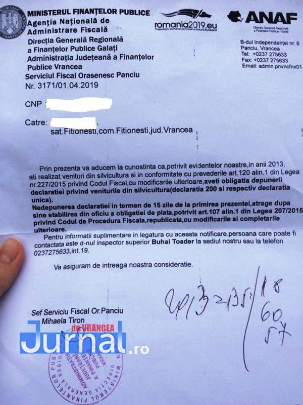 fitionesti 1 - FOTO-Ion Ștefan: Sute de vrânceni proprietari de pădure din Fitionești, somați de ANAF să plătească impozite pentru situații prescrise