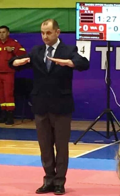 Tiuca Vicentiu Claudiu jandarm arbitru1 - Jandarm vrâncean, arbitru la Campionatul Mondial de Karate Shokotan WSF