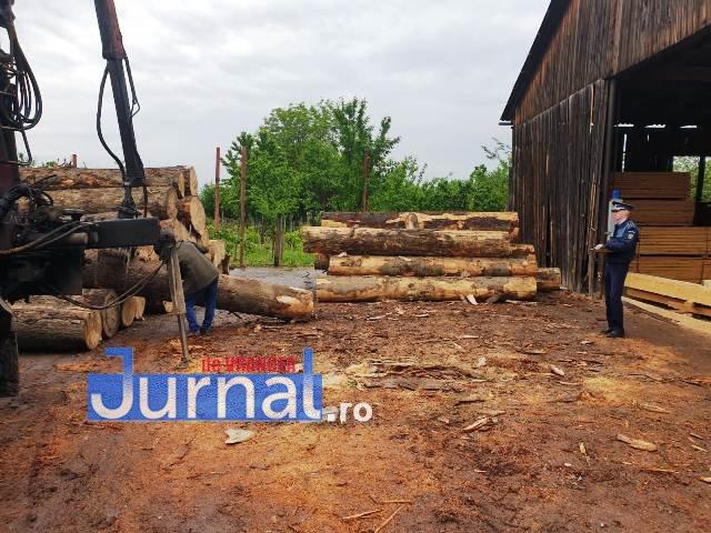 depozit lemne1 - FOTO: Nereguli descoperite la un depozit de material lemnos din Focșani