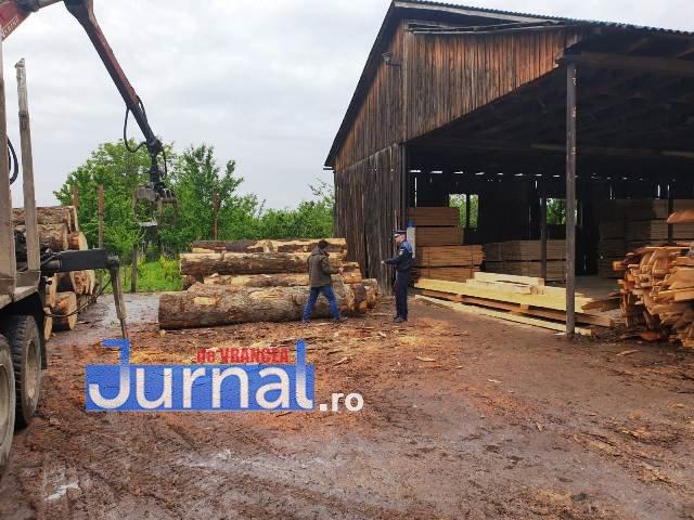 depozit lemne3 - FOTO: Nereguli descoperite la un depozit de material lemnos din Focșani