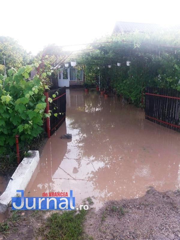 curte inundata urechesti 1 - ULTIMĂ ORĂ: Două curți și o anexă din Urechești inundate de apa căzută de pe versanți
