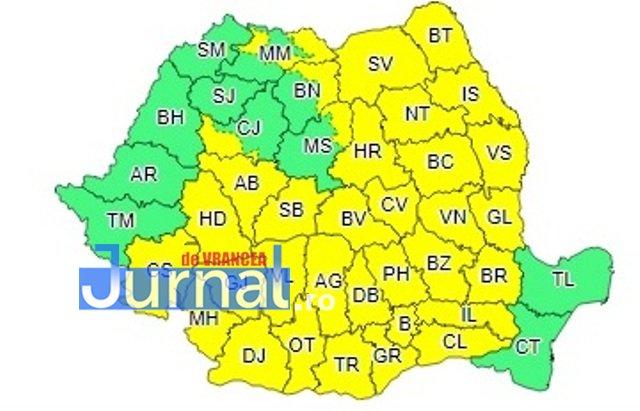 harta cod galben ploi - ULTIMĂ ORĂ: O nouă avertizare de ploi torențiale și vijelii de la meteorologi