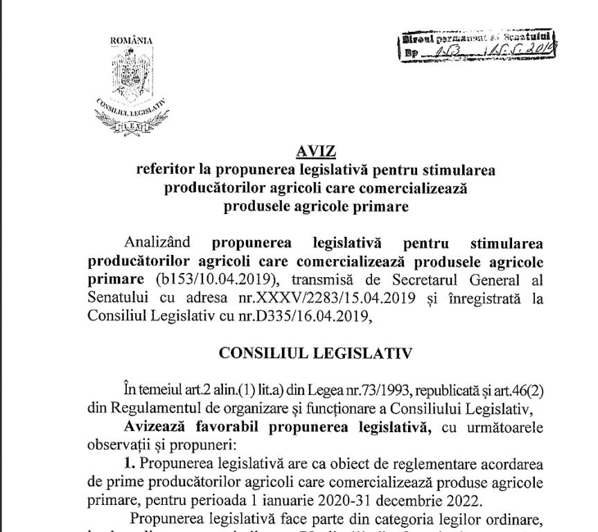 prima de comercializare aviz consultativ - Ion Ștefan: Aviz favorabil pentru prima de comercializare în agricultură pentru produsele românești