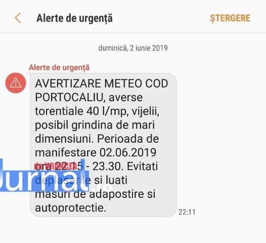 ro alert mesaj - ULTIMĂ ORĂ: Mesaj RO ALERT transmis în Focșani! Cod portocaliu!