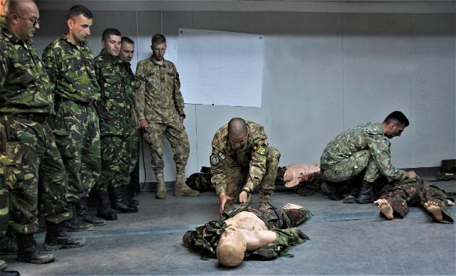 """salvatorii de vieti cincu militari brigada 8 larom3 - FOTO: """"Salvatorii de vieţi"""" din Cincu"""