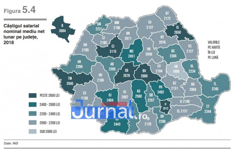 Harta Salariilor Din Romania Vrancea Se Află La Coada