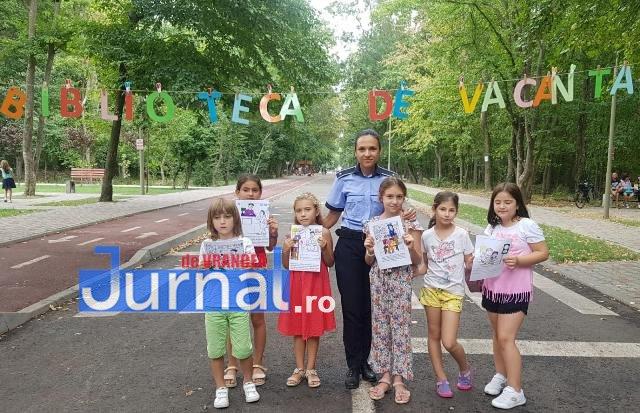 activitati de prevenire si informare a copiilor politisti ipj vrancea3 - FOTO: Polițiștii s-au jucat cu copiii pentru ca cei mici să învețe regulile de circulație