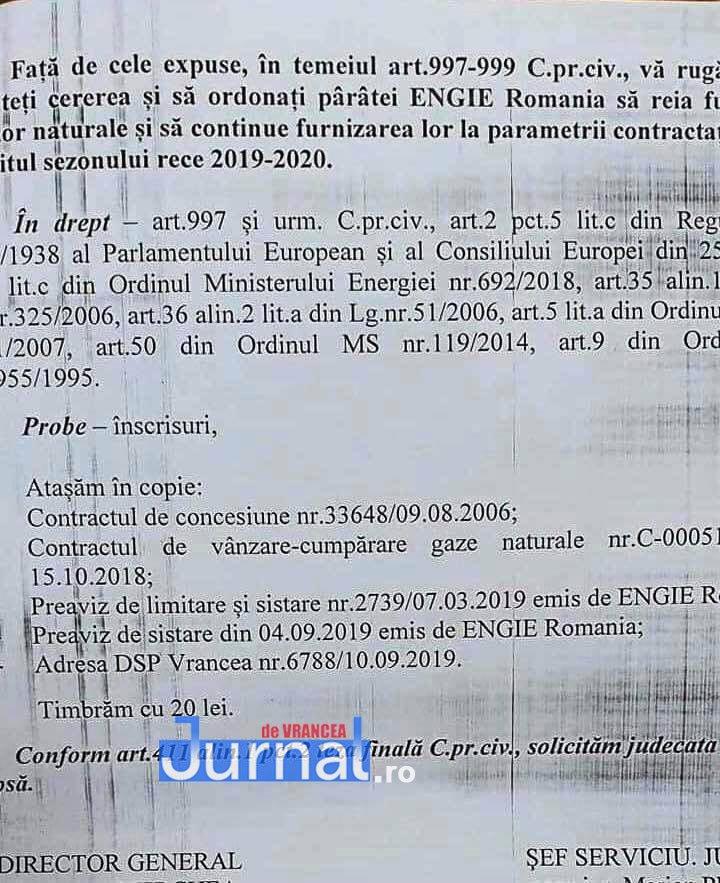 Documente enet focsani3 - FOTO: Cum i-a mințit ENET pe focșăneni: nu e apă caldă nu pentru că e revizie, ci pentru că s-au tăiat gazele pentru neplată!