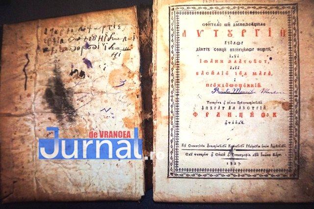 carte de 200 de ani biblioteca duiuliu zanfirescu3 - FOTO: O carte de aproape 200 de ani de la biblioteca din Vrancea, clasată în patrimoniul național