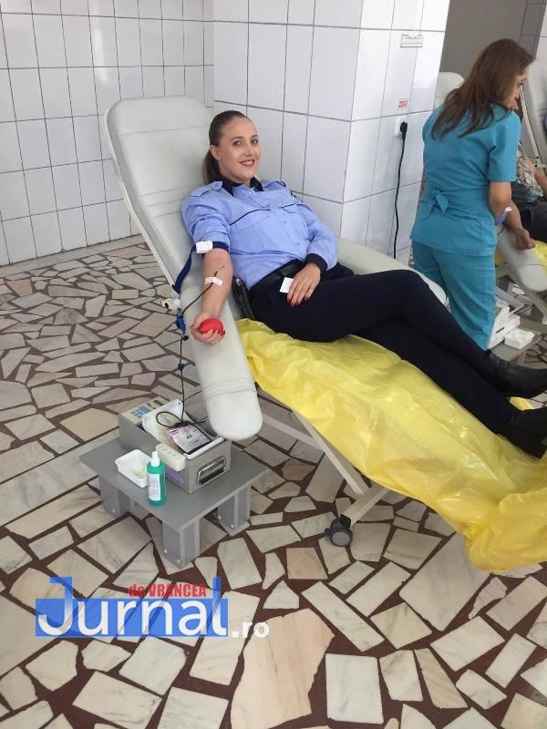 ipj vrancea donare de sange5 - FOTO: Peste 75 de polițiști au donat sânge în cadrul unei campanii care a durat 2 săptămâni