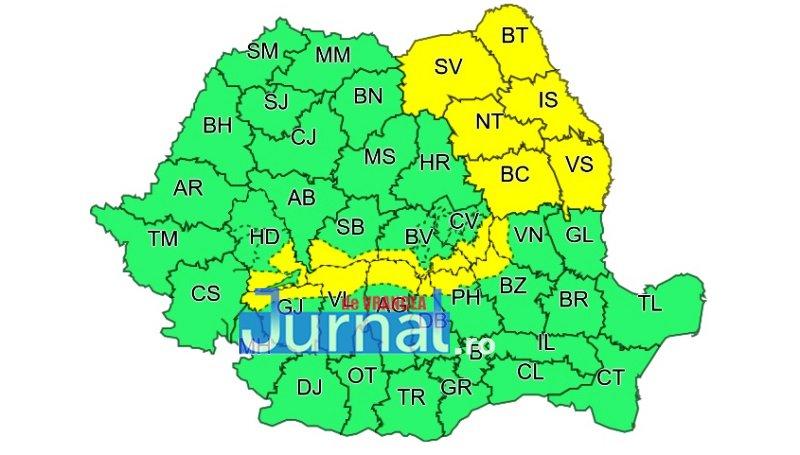 cod galben - Vin ninsorile! Zona de munte a județului Vrancea sub o avertizare de cod galben