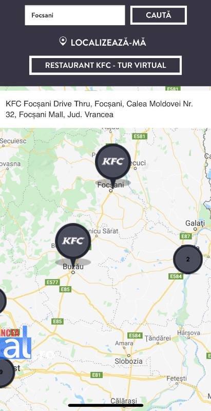 localizare kfc focsani - KFC a deschis primul restaurant la Focșani
